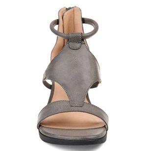 Women's Zipper Round Toe Wedge Heel Sandals_3