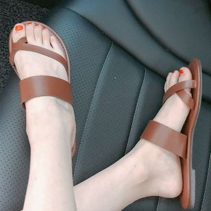Women's Flats Toe Ring Flat Heel Sandals_4