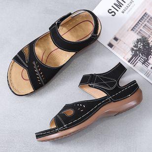 Women's Hollow-out Slingbacks Flat Heel Sandals_2