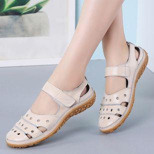 Women's Hollow-out Flats Flat Heel Sandals_4