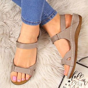 Women's Velcro Slingbacks Flat Heel Sandals_4