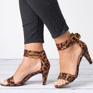 Women's Velcro Ankle Strap Heels Cloth Stiletto Heel Sandals_1