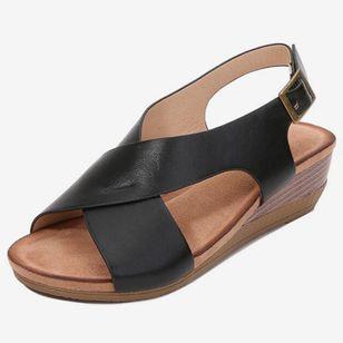 Women's Buckle Slingbacks Wedge Heel Sandals_6