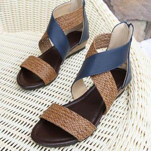 Women's Braided Strap Split Joint Heels Wedge Heel Sandals_2
