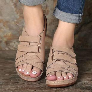 Women's Hollow-out Wedge Heel Sandals_1