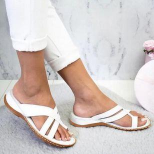 Women's Geometric Flats Flat Heel Sandals_2