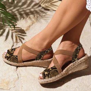 Women's Peep Toe Wedge Heel Sandals_1