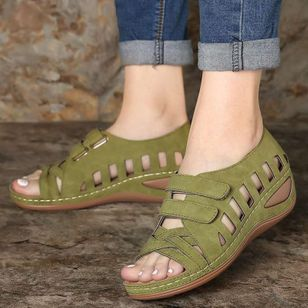 Women's Hollow-out Wedge Heel Sandals_3