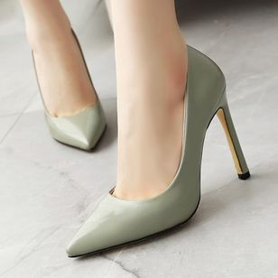 Women's Pointed Toe Heels Patent Leather Stiletto Heel Sandals_4