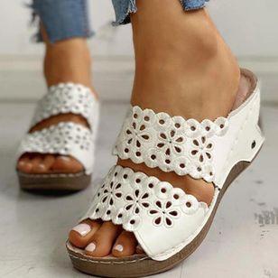 Women's Hollow-out Heels Wedge Heel Sandals_6