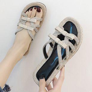 Women's Rhinestone Flats Flat Heel Sandals_4