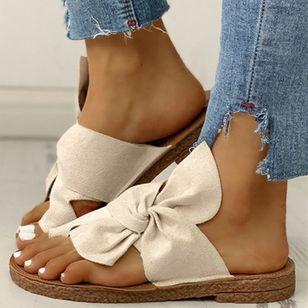 Women's Bowknot Flats Cloth Flat Heel Sandals_2