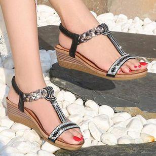 Women's Rhinestone Heels Wedge Heel Sandals_1