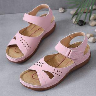 Women's Hollow-out Slingbacks Flat Heel Sandals_1