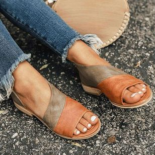 Women's Split Joint Flats Flat Heel Sandals_2