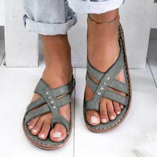 Women's Geometric Flats Flat Heel Sandals_4