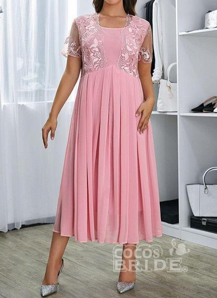 Pink Plus Size Floral V-Neckline Casual Ruffles Maxi Plus Dress_5