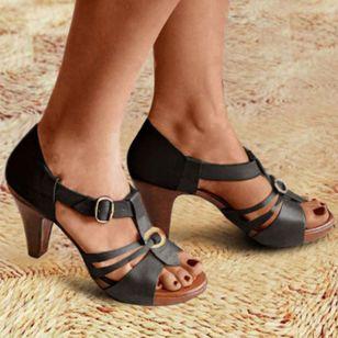 Women's Buckle Heels Stiletto Heel Sandals_2