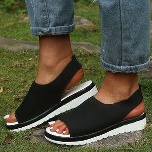 Women's Slingbacks Fabric Wedge Heel Sandals_1