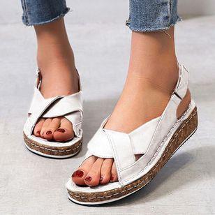 Women's Buckle Slingbacks Flat Heel Sandals_6