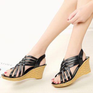 Women's Slingbacks Wedge Heel Sandals_7