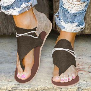 Women's Lace-up Flip-Flops Flat Heel Sandals_1