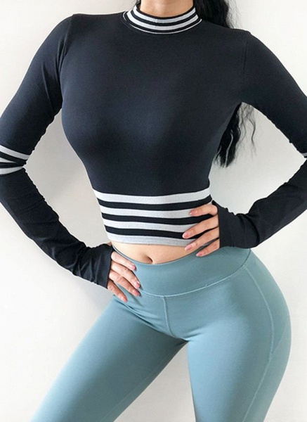 Women's Athletic Casual Sporty Polyester Fitness Top Fitness & Yoga_2