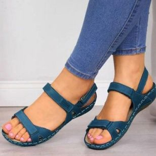 Women's Velcro Slingbacks Flat Heel Sandals_1