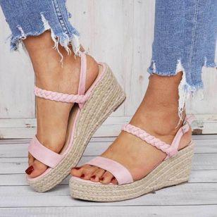 Women's Buckle Slingbacks Nubuck Wedge Heel Sandals Platforms_4