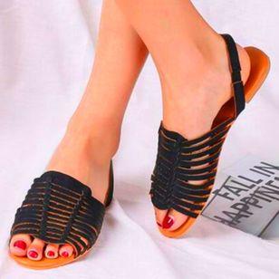 Women's Slingbacks Nubuck Flat Heel Sandals_2