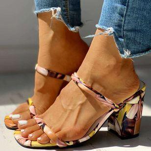 Women's Slingbacks Chunky Heel Sandals_5