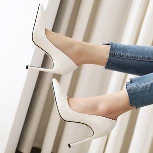 Women's Pointed Toe Heels Patent Leather Stiletto Heel Sandals_2