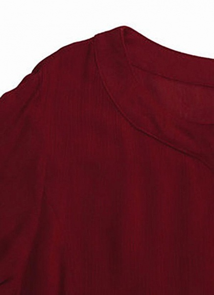 Dark Blue Plus Size Solid Casual Pockets Maxi Shift Dress Plus Dress_7
