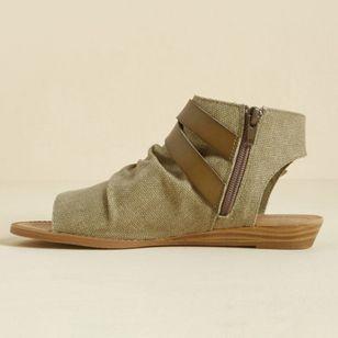Women's Buckle Zipper High Top Flat Heel Sandals_3