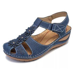 Women's Flower Slingbacks Flat Heel Sandals_1