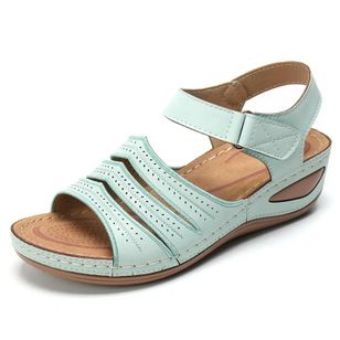 Women's Velcro Slingbacks Flat Heel Sandals_4