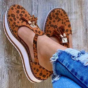 Women's Tassel Closed Toe Flat Heel Sandals_8