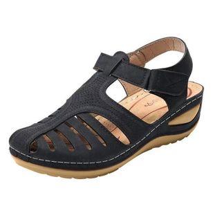 Women's Buckle Flats Low Heel Sandals_2
