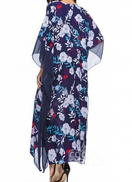Plus Size Tunic Floral V-Neckline Casual Plus Dress_3