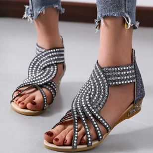 Women's Hollow-out Flats Flat Heel Sandals_5