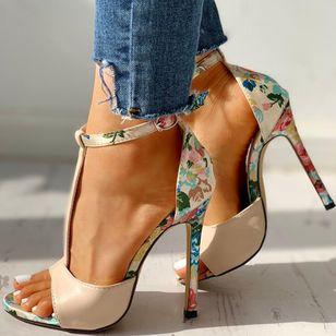 Women's Buckle Flower Heels Stiletto Heel Sandals_1