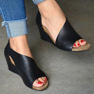 Women's Zipper Heels Wedge Heel Sandals_4