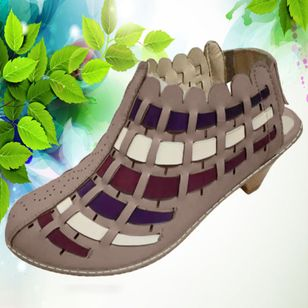Women's Knit Heels Cone Heel Sandals_3