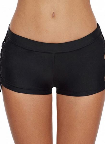 Spandex Nylon Solid Bikinis Swimwear_1