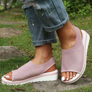 Women's Flats Cotton Flat Heel Sandals_4