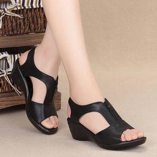 Women's Peep Toe Low Heel Sandals_3