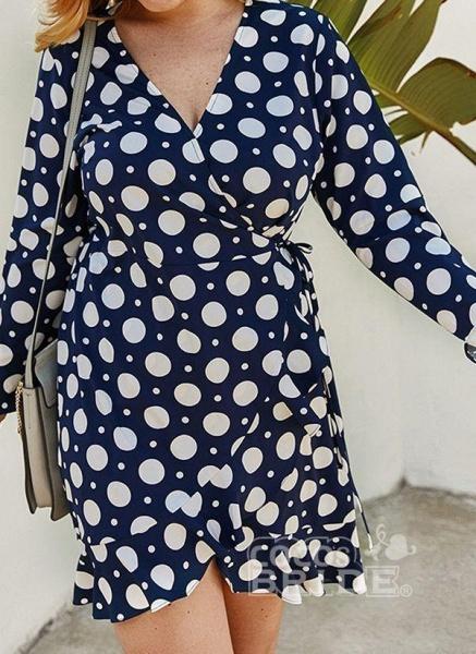 Yellow Plus Size Color Block V-Neckline Casual Maxi X-line Dress Plus Dress_3