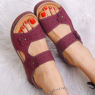 Women's Flower Slingbacks Flat Heel Sandals_9