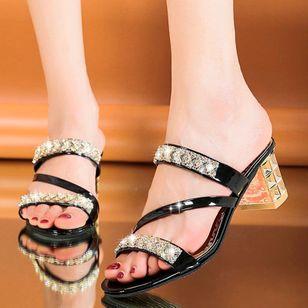 Women's Heels Chunky Heel Sandals Slippers_3