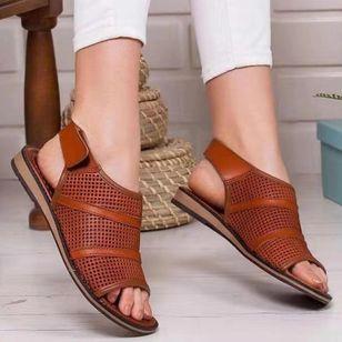 Women's Hollow-out Slingbacks Wedge Heel Sandals_1